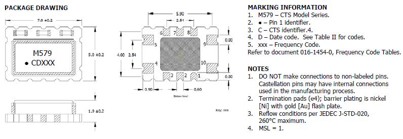cts晶振,进口有源晶振,579晶振