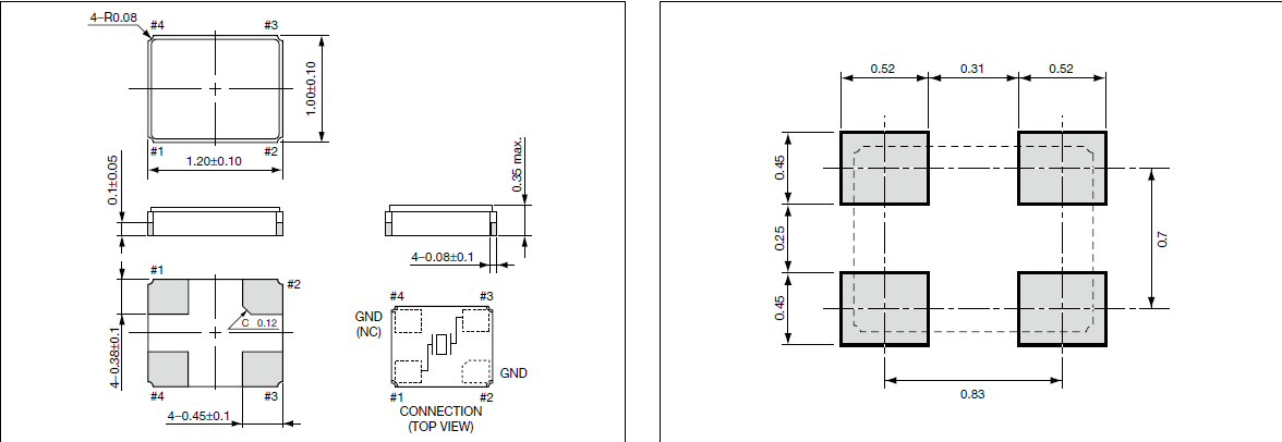 京瓷晶振,贴片晶振,cx1210db,cx1210sb晶振