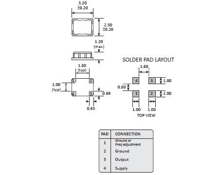 mhz晶体振荡器,高利奇3225温补晶振,gtxo-93晶振