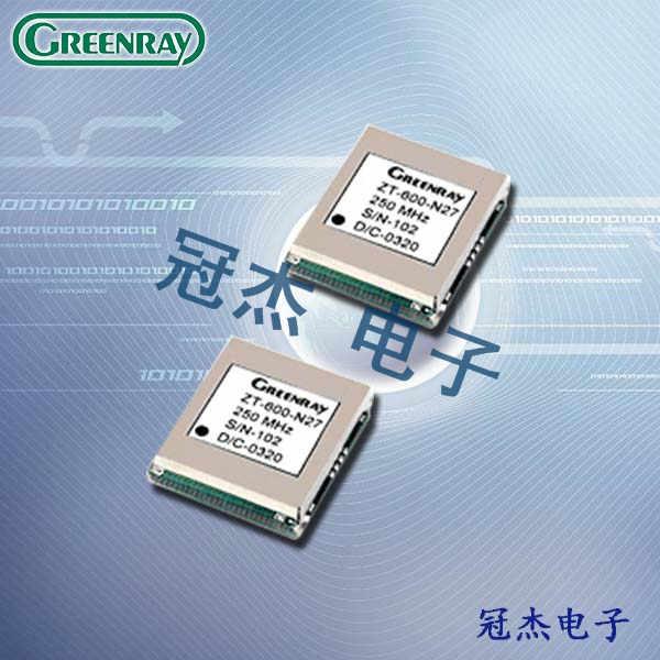 Greenray晶振,温补晶振,ZT600/601晶振