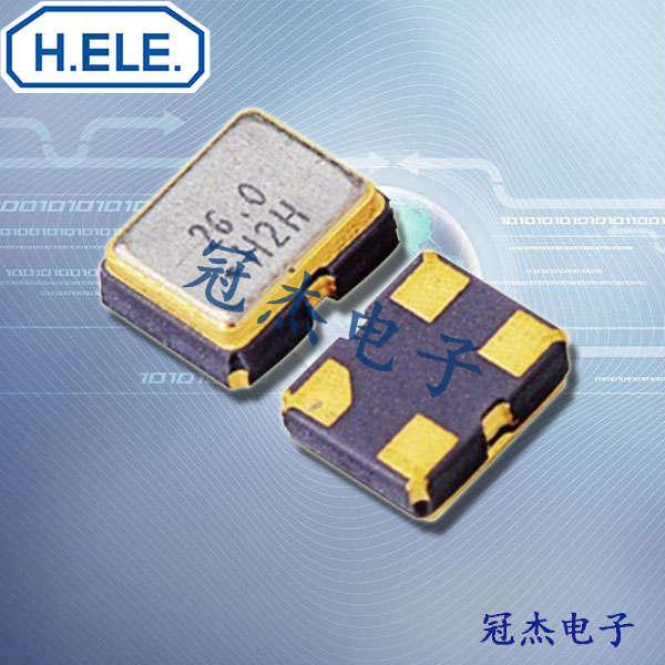 HELE晶振,2016有源晶振,HSO211S晶振