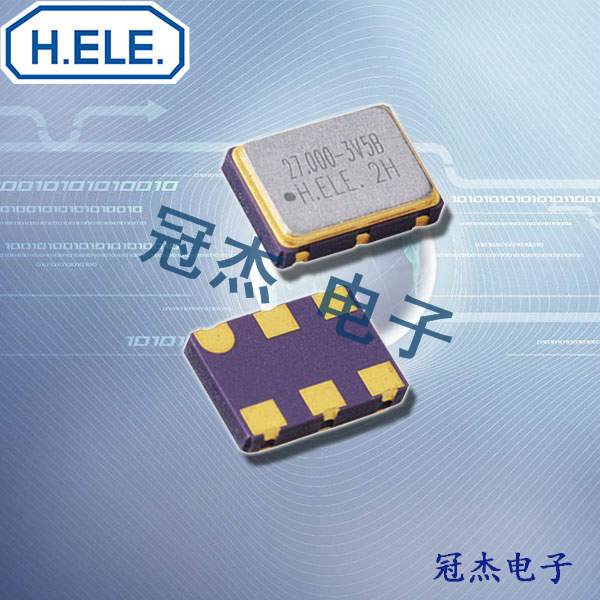HELE晶振,六脚压控温补晶体,HSV753S晶振