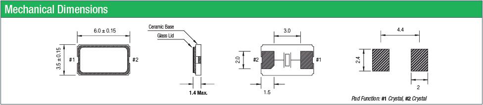 qantek晶振,贴片晶振,QC6GB晶振,进口贴片晶振
