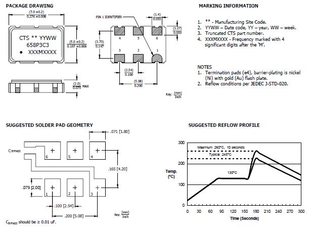 差分晶体振荡器,高性能有源贴片晶振,658晶振